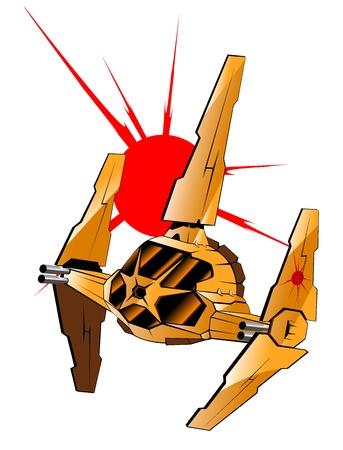 illustration of futuristic spaceship.