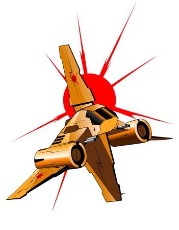 Illustration der futuristischen Raumschiff Standard-Bild - 16878366