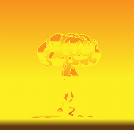 illustration of mushroom after nuclear explosion Stock Vector - 16878368