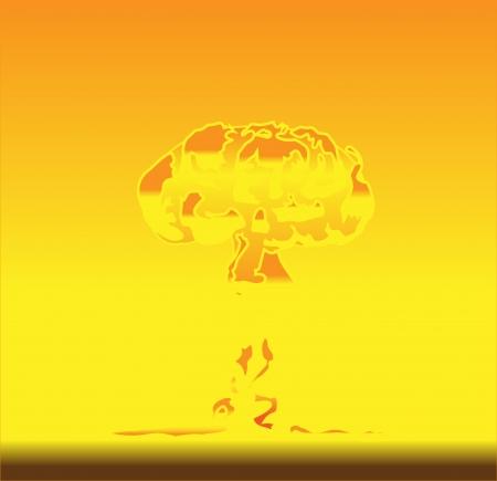 nuclear mushroom:  illustration of mushroom after nuclear explosion