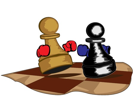 boxing pawns Vector