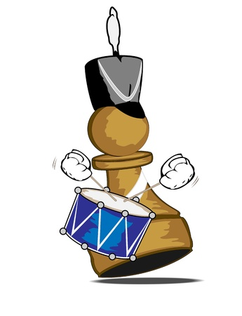 pawn the drummer Stock Vector - 16878367