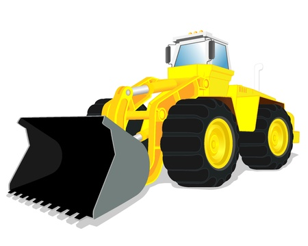 illustration of wheel loader Stock Vector - 16878383