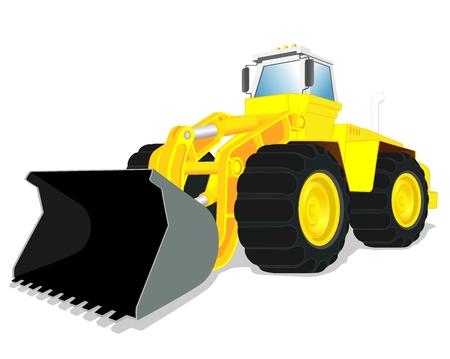 illustration of wheel loader Stock Vector - 16878383