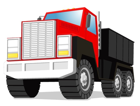 illustration of truck Vector