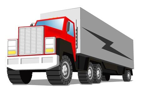 cargo truck Stock Vector - 16984516