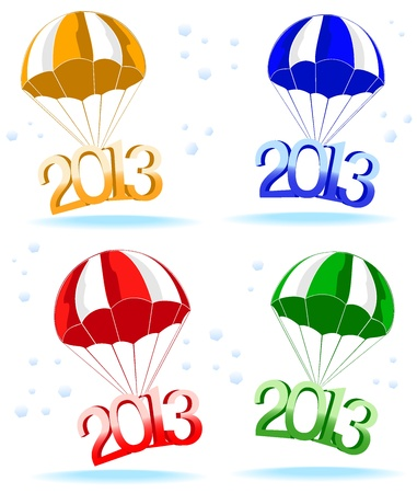 new year postal. Vector