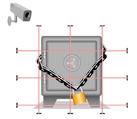 safe box.   Vector