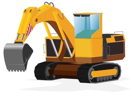 sandpit: excavadora. Vectores
