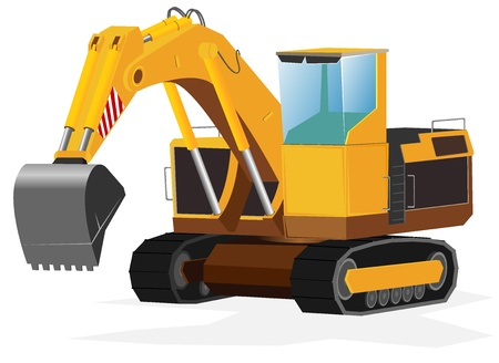 excavator.  Vector