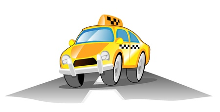 taxi  illustration Stock Vector - 17151778