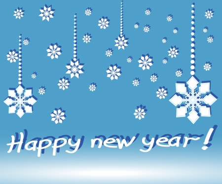 new year postal  illustration 2 Vector