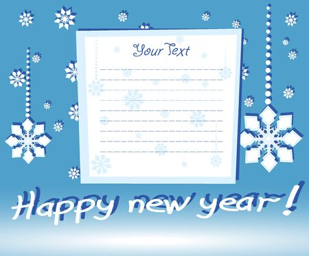new year postal Vector