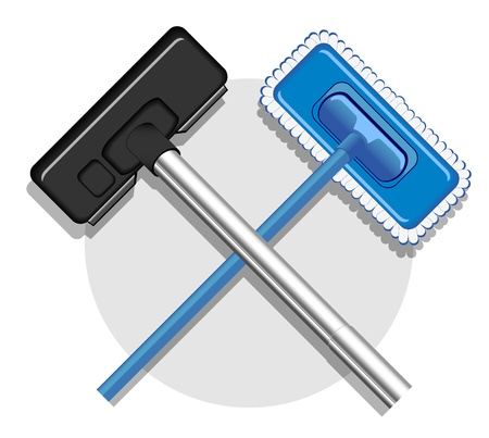illustration of cleaning service image. Vector 1