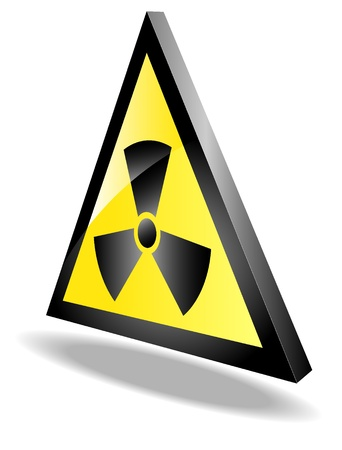 sign of radiation threat Stock Vector - 17444339