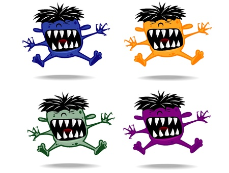 set of varicolored funny monsters Vector