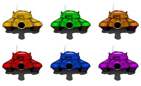 set of varicolored tanks Stock Vector - 17444346