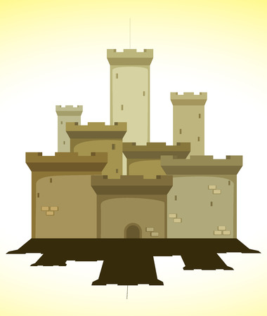 castle door: medieval castle  vector illustration Illustration