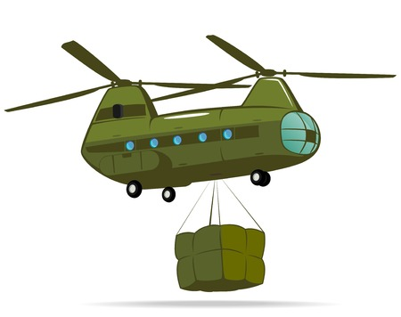 blimps: military cargo transport  vector illustration 2