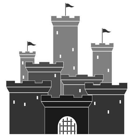 contry: medieval castle  vector illustration 4