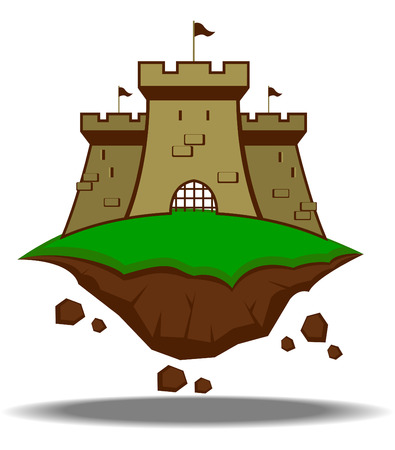 contry: abstract medieval castle  vector illustration Illustration