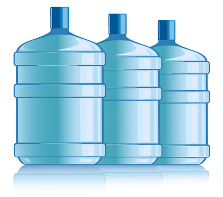 water tanks: bottles with water. vector illustration Illustration