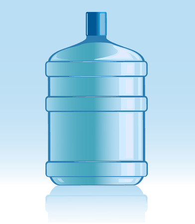 vector illustration of bottle with water Illustration