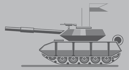 regiment: vector illustration of military tank sign