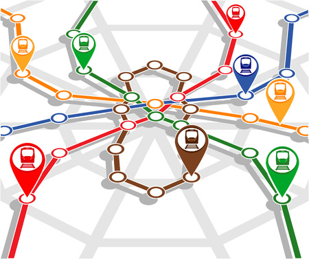 monitoring system: abstract transport network monitoring system. vector illustration