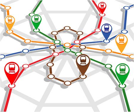 monitoring system: abstract transport network monitoring system. vector illustration