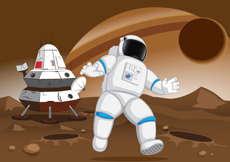 unknown: astronaut on the unknown planet.