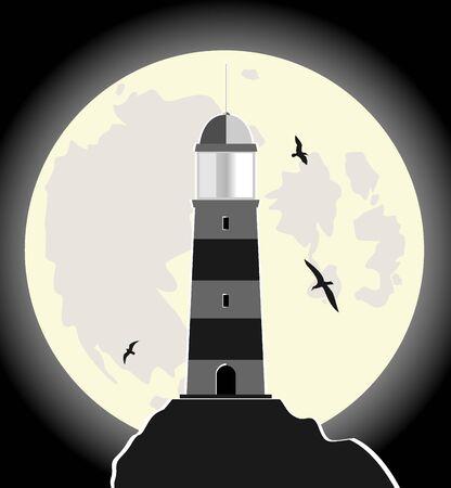 illuminative: lighthouse. vector illustration 4 Illustration