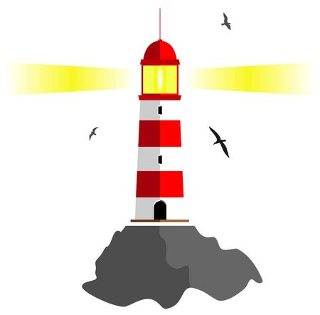 lighthouse keeper: lighthouse. vector illustration