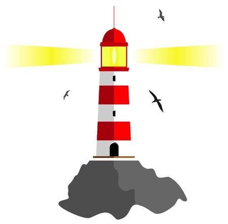 illuminative: lighthouse. vector illustration