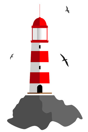 lighthouse keeper: lighthouse. vector illustration 3