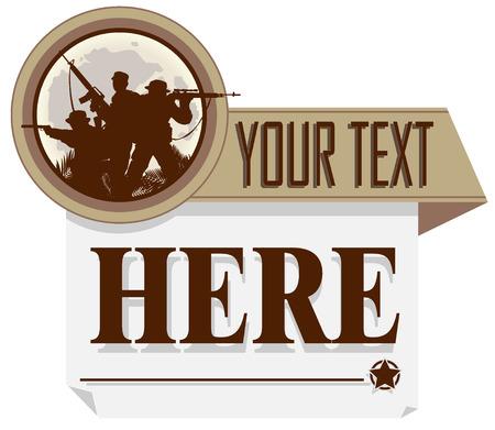 saboteur: army poster. vector illustration