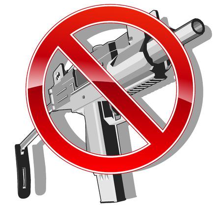 no gun sign. vector illustration  Vector
