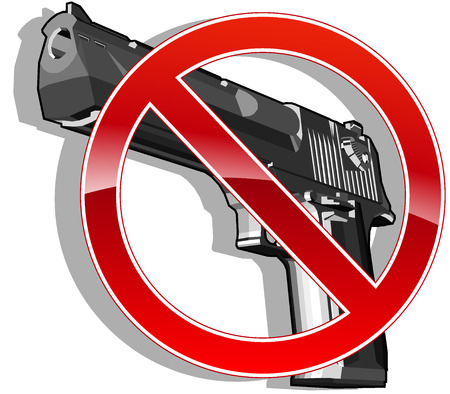 gun shot: no gun sign illustration