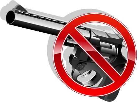 no gun sign illustration 4 Vector