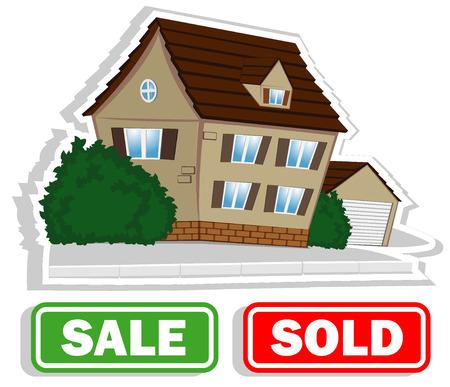 house for sale. vector illustration 2 Illustration