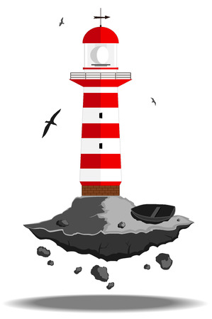 illuminative: lighthouse. vector illustration 5