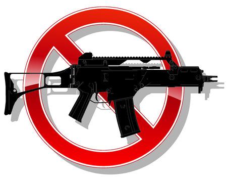 prohibido: Muestra prohibida sin arma. ilustración vectorial 2 Vectores