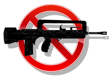 prohibited: prohibited sign no weapon. vector illustration