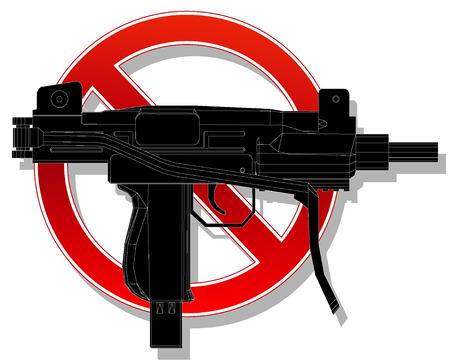 prohibido: Muestra prohibida sin arma. ilustraci�n vectorial 4 Vectores