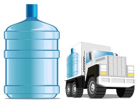 limpid: water delivery service. vector illustration Illustration