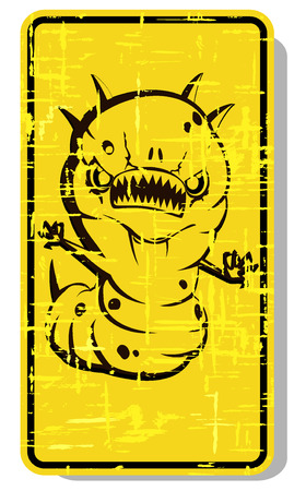 infectious waste: biohazard warning sign. abstract vector illustration 3