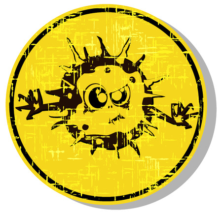 biological warfare: biohazard warning sign. abstract vector illustration 2