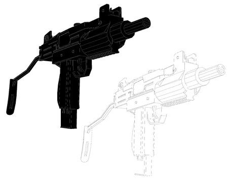 weaponry: gun icon symbol.