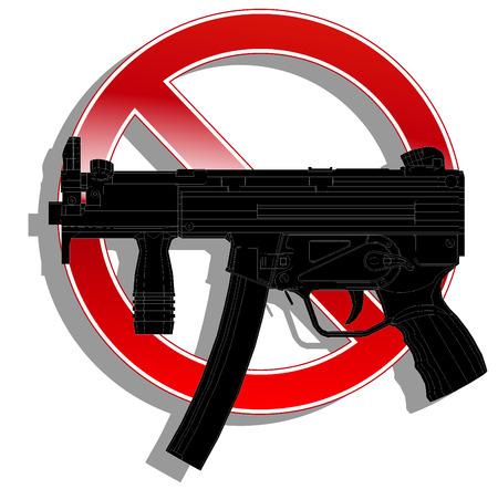 prohibido: Muestra prohibida sin arma.