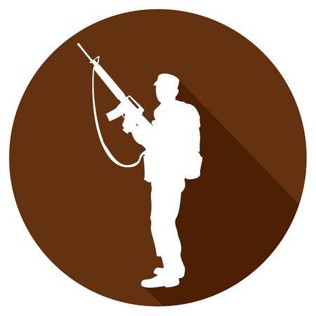 saboteur: simple military icon. Illustration